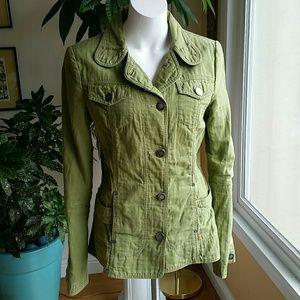 Anthropologie 22 green blazer jacket size Medium